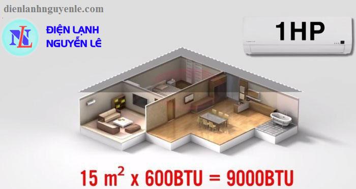 máy lạnh 1hp cho phòng dưới 15m2