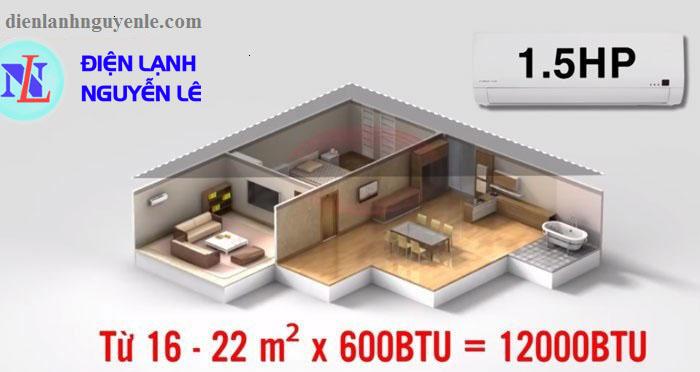 máy lạnh cũ toshiba 1.5hp cho phòng dưới 18m2